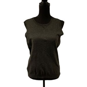 Philosophy Sweater Vest or Shell Medium Charcoal